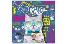 0029.02-F (купон 0,75х0,75) кошка с гитарой